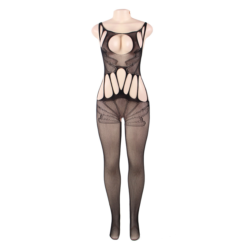 #H3005 Women's sexy lingerie cut-out crotchless body stockings