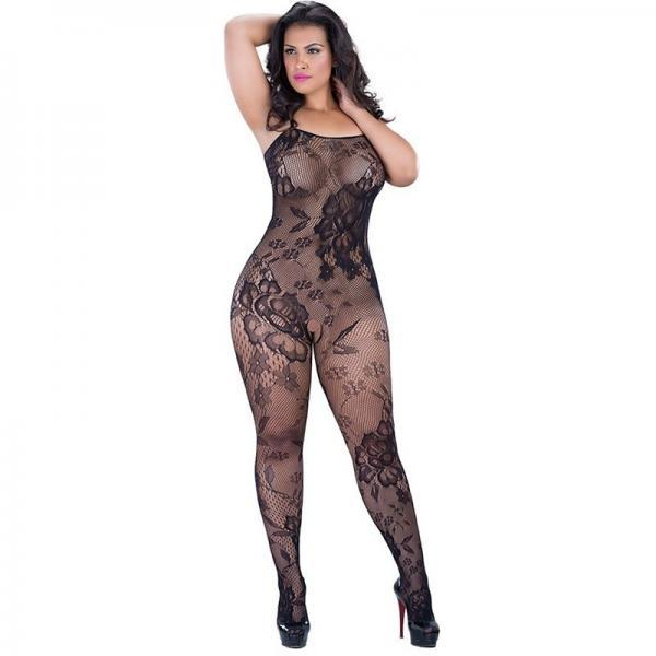 women's sexy lingerie crotchless fishnet mesh transparent body stockings nightclub wear