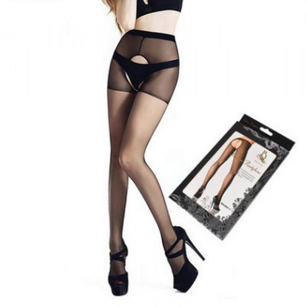 Sexy women's lingerie Pantyhose crotchless Stocking tights hosiery