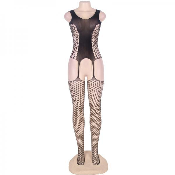 #H3017 Sexy women's exotic lingerie cut-out crotchless fishnets body stockings